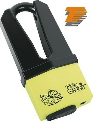 ABUS GRANIT QUICK 37/60 YELLOW DISC LOCK 70/11mm