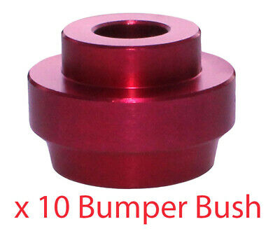 Pack of 10 Big Bumper Bush Red For 32mm Chassis CLEARANCE ITEM GREAT VALUE