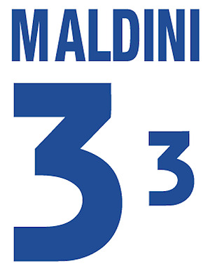 Italy Maldini Nameset 2000 Shirt Soccer Number Letter Heat Print Football Away