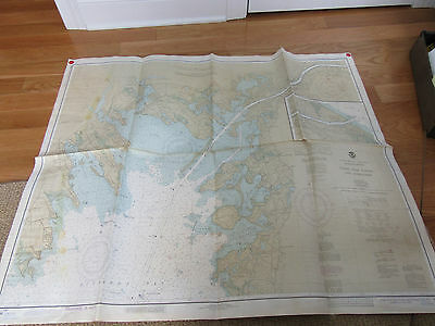 vintage cape cod canal and approaches nautical map 1904