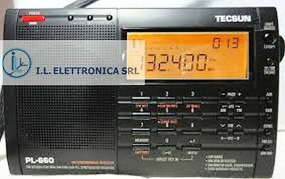 TECSUN PL-660 RECEIVER PRO PORTABLE ALL MODE 1.7-30Mhz + AIRBAND ref 330001