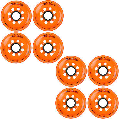 Labeda Inline Roller Hockey Skate Wheels Addiction Orange 80mm SET OF 8