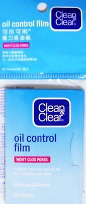 Clean & Clear Oil Control Film Blotting Paper Oil-absorbing Sheets for Face New