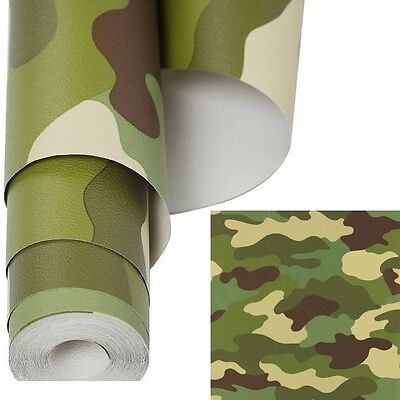Kids Army Dpm Camouflage Wallpaper 10.5 Metre Textured Roll Boys Camo Bedroom