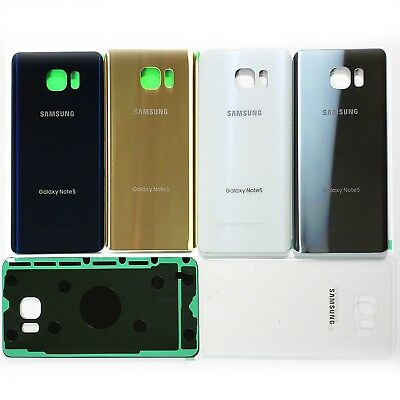 For Samsung Galaxy Note 5 OEM Original Grade Back Glass Rear Battery Cover wTape