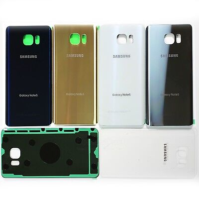 For Samsung Galaxy Note 5 Original Grade Back Glass Rear Battery Cover wTape