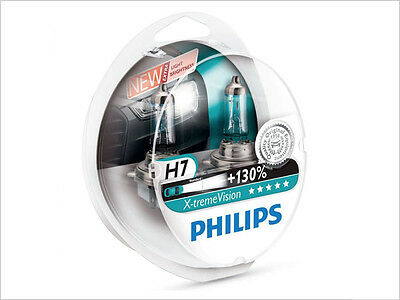 2x NEW PHILIPS XTREME VISION +130% H7 12972XV+S2 HALOGEN BULBS | PACK OF 2