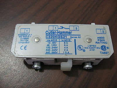 Cutler Hammer C320KGS21 Auxiliary Contact