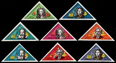 ✔️ Paraguay 1965 - Scientists  Imperforated - Mi. 1439/1446 ** Mnh