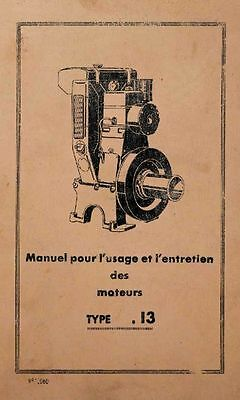 Bernard Engines W13, notice and catalogue parts