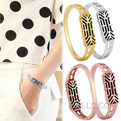 Stainless Steel Replacement Bangle Wrist Bracelet Band Strap For Fitbit Flex 2