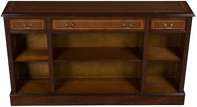 New Antique Style Low Bookcase Bookshelf w Drawers Mahogany Wood Book Shelf FS!