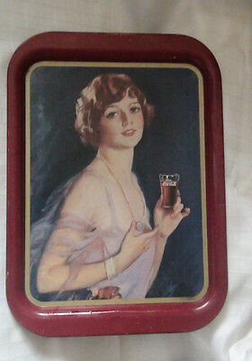 Vintage Coca-Cola Serving Tray - 1927 Calendar Girl/with Coca-Cola Glass - Used