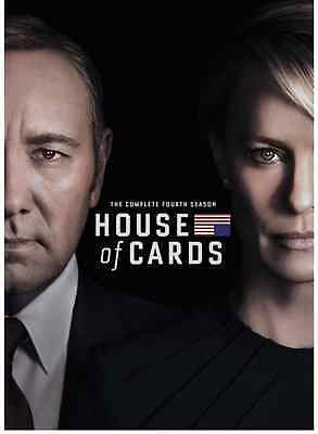New & Sealed: House Of Cards Fourth season 4 (DVD, 2016, 4-Disc Set)