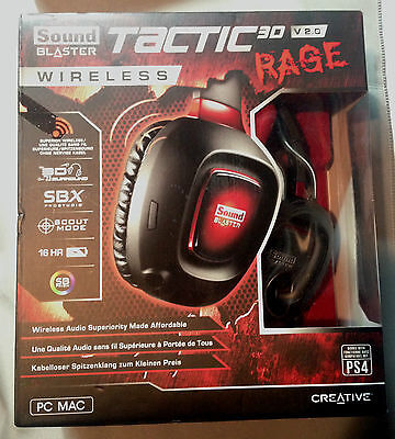Creative Sound Blaster Tactic 3D Rage Headset Wireless 2.0 V2 - Used