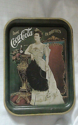 Vintage Coca-Cola Serving Tray - 1930 Woman /with Coca-Cola Bottle - Used