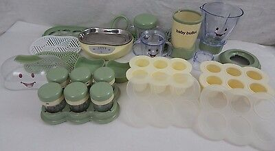 Baby Bullet Food System w/ Turbo Steamer & Related Parts Pieces & Attachements