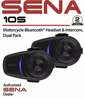 Sena 10S Dual Pack Motorcycle 4.1 Bluetooth Communication System 10S-01D (2PACK)