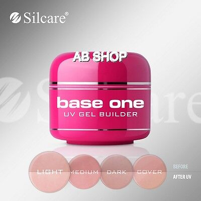Base One Cover Light 50g UV Gel Nails Camouflage File Off Gel Silcare