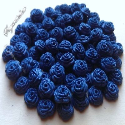 100 Edible Sugar Roses Flowers Cake Cupcake Toppers Decorations Royal Blue