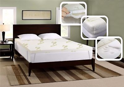 Top Quality Thick Bamboo Memory Foam Mattress Topper Soft Cozy Comfortable
