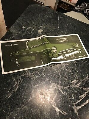 1964 1965 Sunbeam Alpine V Tiger V8 Chrysler US Brochure Rare Scarce Vtg Dealer