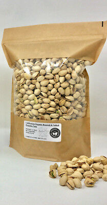 1KG Delicious Organic Californian Roasted UnSalted Whole Split Pistachios Nuts