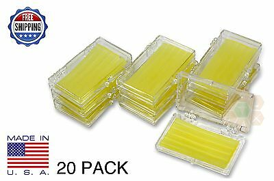 20 Pack Orthodontic WAX  BRACES Irritation YELLOW LEMON SCENTED Dental Relief