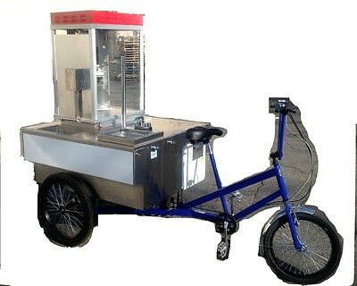 Tricycle Mobile Food Vending Cart Popcorn Popper Made by Worksman Cycles USA