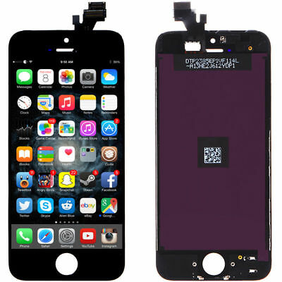"""LCD Display Touch Digitizer Screen Assembly Replacement for iPhone 5G Black 4"""""""