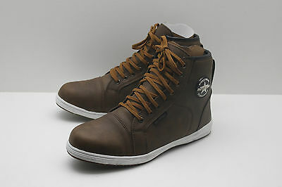 MotoDry Urban Leather Waterproof Casual Motorcycle Road Boots Shoes - Brown