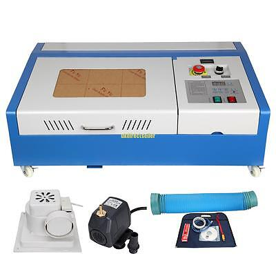 40W USB Port Laser Engraving Cutting Machine Engraver Cutter Upgrade w/ Wheel