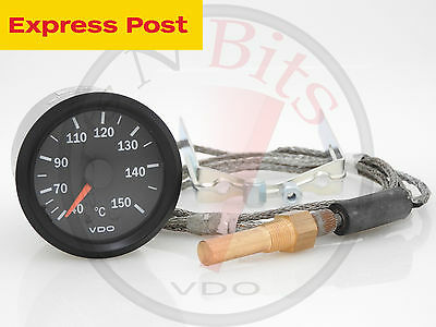 CAPILLARY OIL TEMP GAUGE 52mm - 1.6m LENGTH VDO