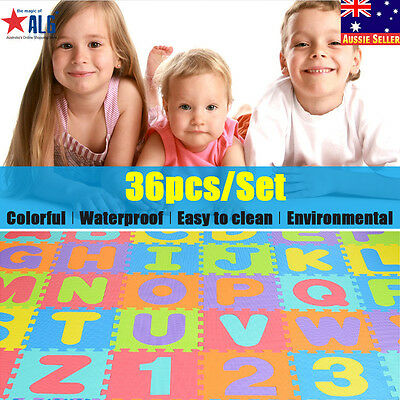 ABC Floor Play Mats Tiles 36PCS Kid Foam Learning Alphabet Letters Puzzle