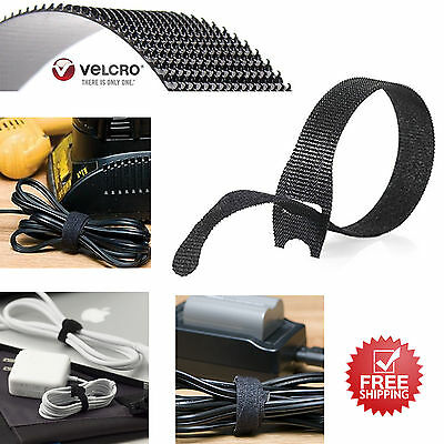 VELCRO One WRAP Thin Self-Gripping Cable Ties Reusable 8'' x 1/2'' 50 Pack New
