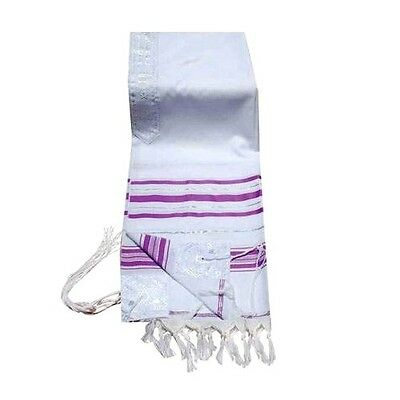 Prayer Shawls Lavender and Silver Trims