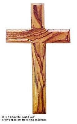 Olive Wood Cross - Wall Hanging - 7.8""