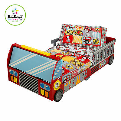 Wondrous Kidkraft Fire Truck Bed Kids Wooden Toddler Bed Fire Engine Bralicious Painted Fabric Chair Ideas Braliciousco