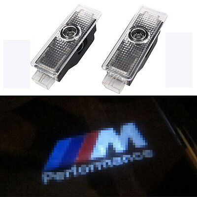 2x LED Car Door Courtesy Laser Projector Logo Shadow Light For BMW M PERFORMANCE