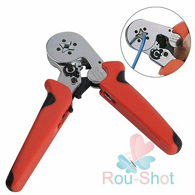 Locking Crimping Pliers Ratchet For Wire End Ferrules Sleeves 0.25-10mm²【AU】
