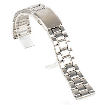 Replacement Stainless Steel Wrist Watch Band Strap Buckle Clasp Bracelet 14-22mm