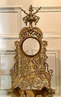 Gilt bronze antique clock case for spare repair work