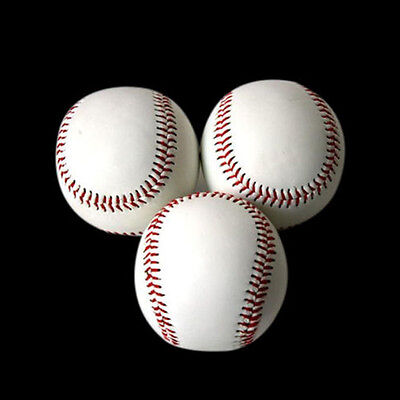 "9"" TOP White Base Ball Baseball Practice Train Softball Sport Team Game Fashion"