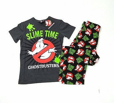Ghostbusters Boys Girls Slime Time T-Shirt Pants Pyjamas 7 - 16 Years