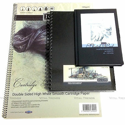 Sketch Book Drawing Pad White Cartridge Paper A3 A4 A5 Artist Draw Art paper Pad