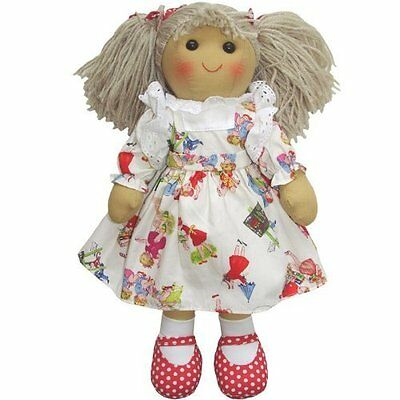 New Powell Craft Traditional Handmade Rag Doll - 'Girls at Play' dress - 40cm -