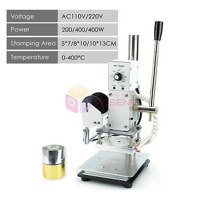 NEW Hot Foil Stamping Machine Leather PVC Printing LOGO Embossing Bronzing