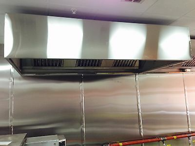 Commercial Kitchen Extraction/Canopy/Hood Stainless Steel 7ft. MADE TO MEASURE
