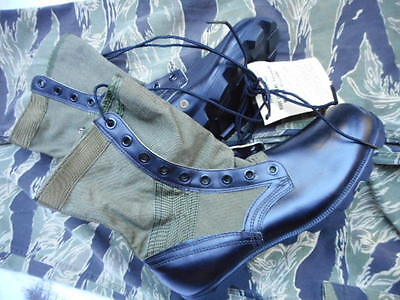 ORIGINAL vintage 1968 US ARMY ISSUE VIETNAM PATTERN JUNGLE BOOTS NEW USA 11 UK10
