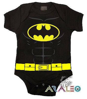 Body Neonato BATMAN Supereroe Cotone Bodysuit Newborn Infant Enfant blk